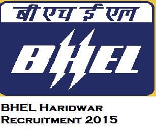 BHEL Haridwar for 278 Trade Apprentice