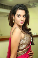 Deeksha Panth Hot Picture in Pink Half-Saree