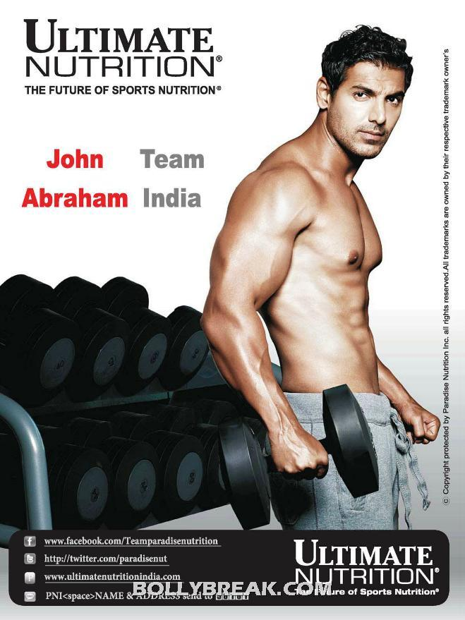 John Abraham Ultimate Nutrition Body - John Abraham Ultimate Nutrition Ad