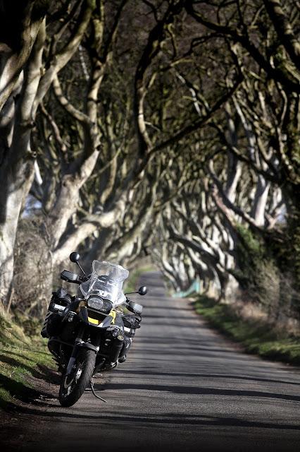R1200gs Motorbike in Dark Hedges