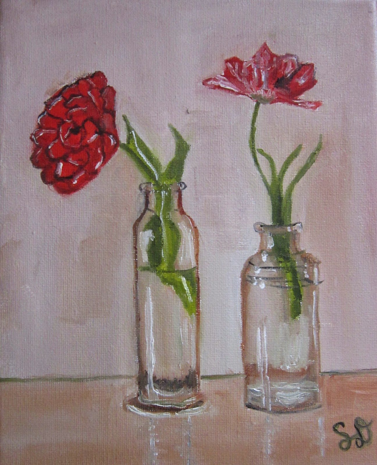 The blog of samdoum art by samdoum day 15 of 30 in 30 for How to paint glass with oil paint