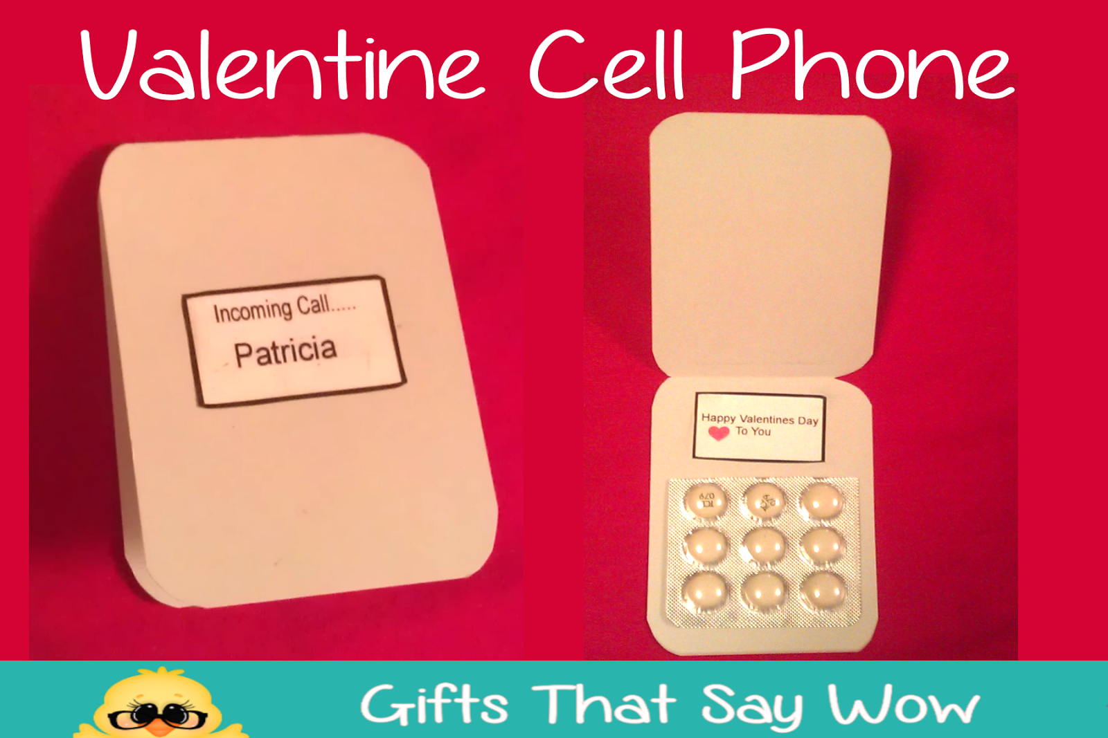 GIFTS THAT SAY WOW Fun Crafts and Gift Ideas Cell Phone Candy – Candy Valentine Card