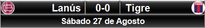 Lanús 0-0 Tigre