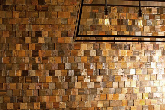 hvh interiors: Wood Wall Tiles by Everitt & Schilling Tile