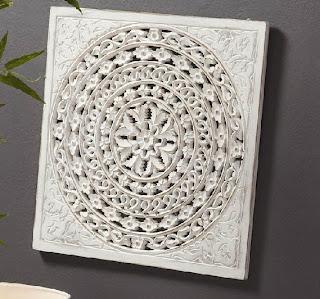Talla decoracion blanca