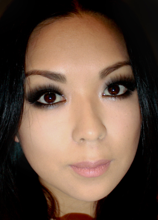 Makeup By Ti Shimmery Black Smokey Eye With Barry M Velour Lashes