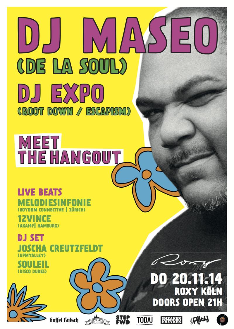 Speedverlosung : Ticktes für DJ Maseo (De La Soul) - Verlosung - Atomlabor Blog