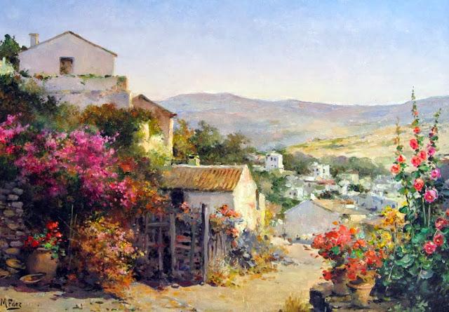 cuadros-al-oleo-paisajes-pueblos-viejos