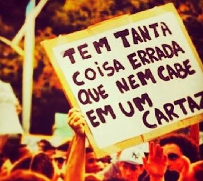 Frases dos protestos brasil 2013
