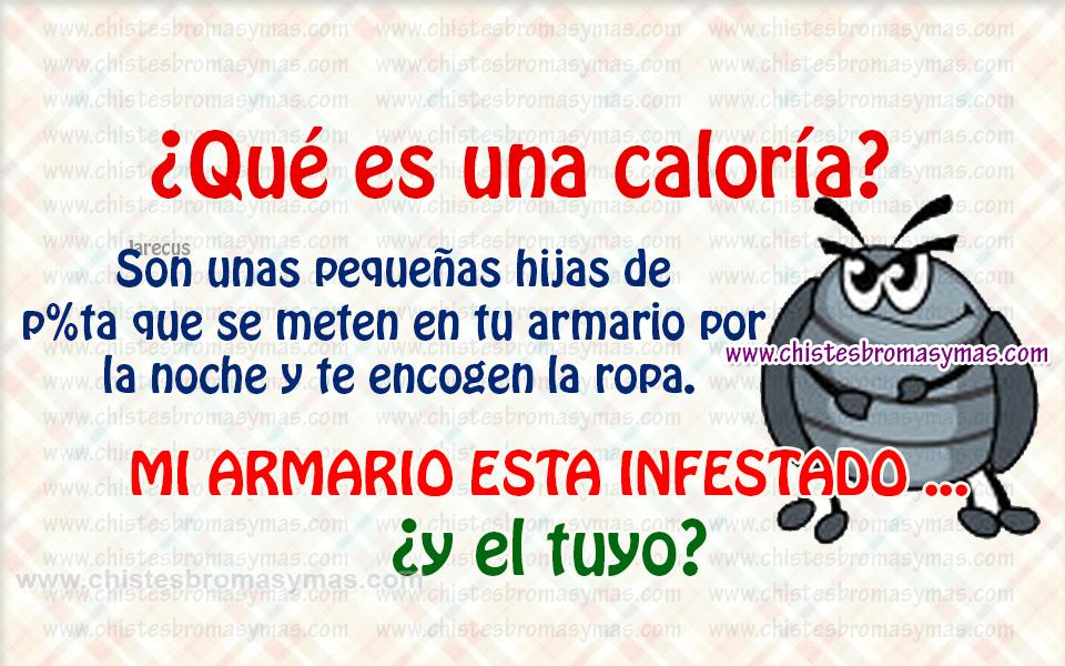 Chiste gráfico - ¿Qué es una caloría?