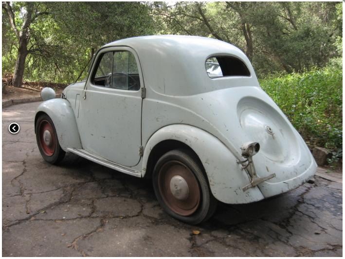 1948 Fiat Topolino 500 B. quot;1948 Fiat 500B Topolino Coupe