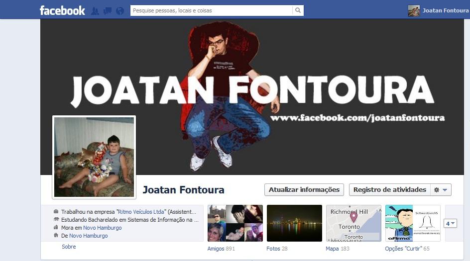 joatan fontoura foto perfil infancia facebook