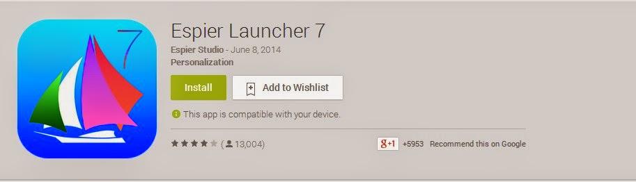 aplikasi louncher mirip tampilan Iphone