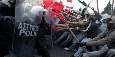 Grèce : grève générale et manifestation monstre contre l'austérité dans Austerite greve_1