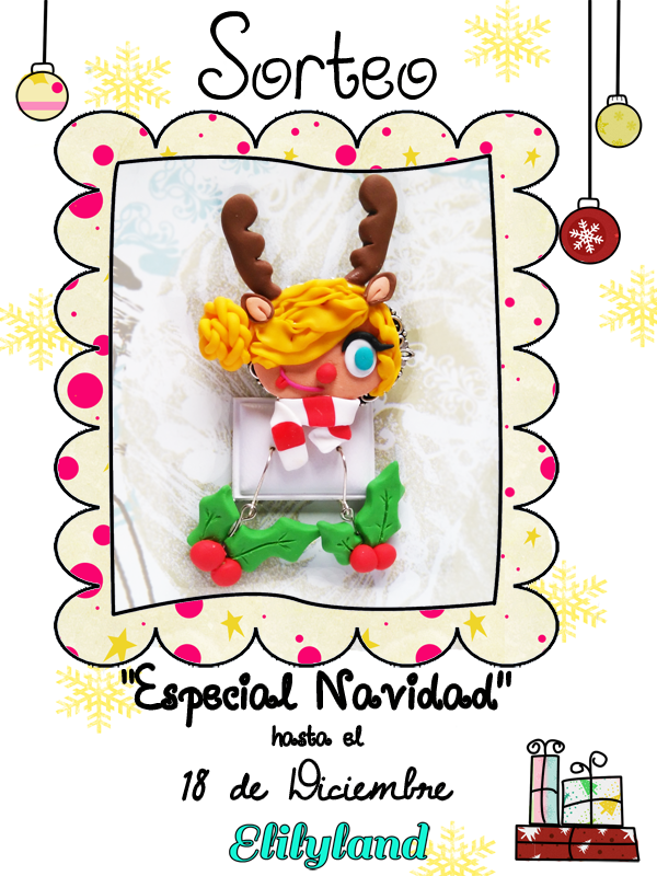 Sorteo Reno Fimo Disfraz Broche Arcilla Polimérica Pendientes Muerdago Navidad