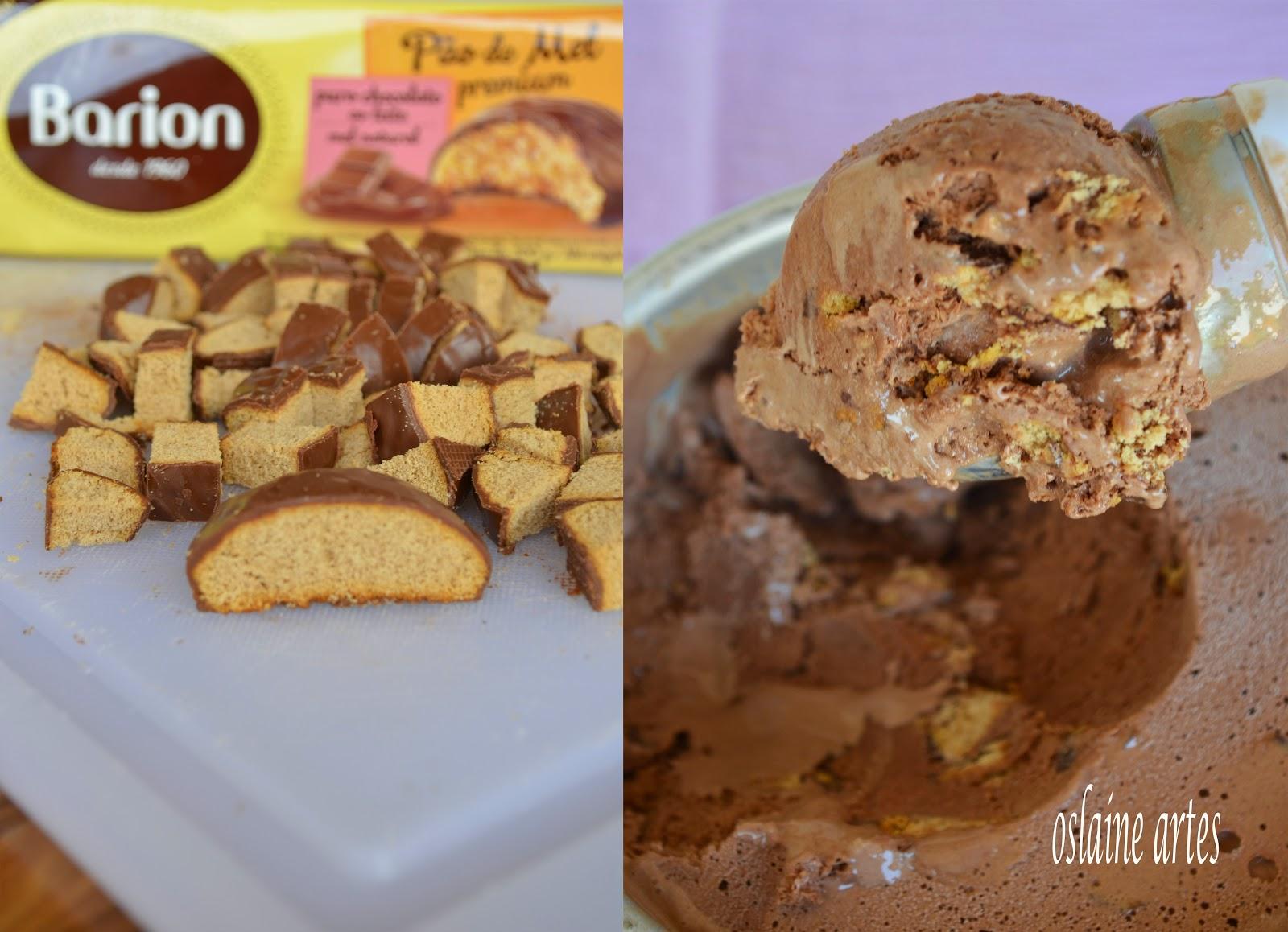 Sorvete de Chocolate com Pão de Mel