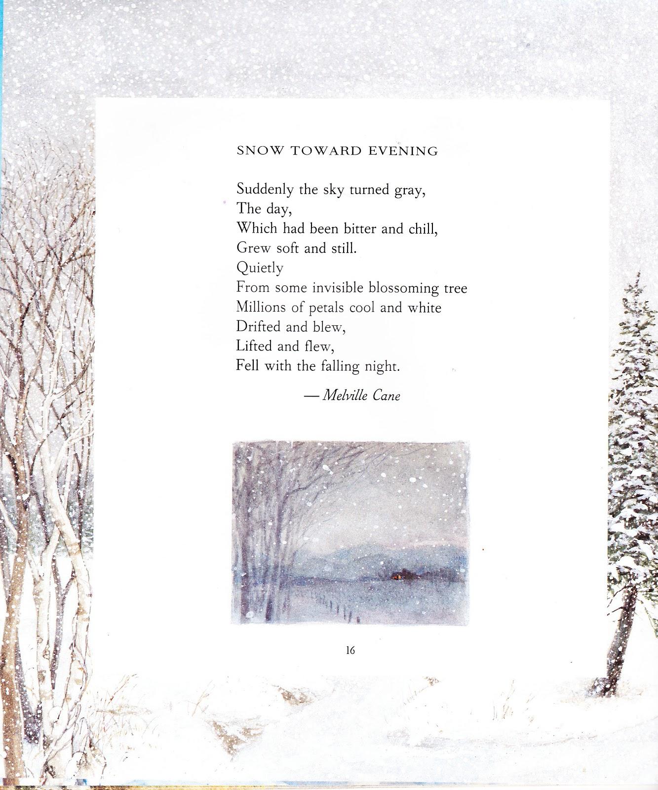 the marlowe bookshelf winter poems