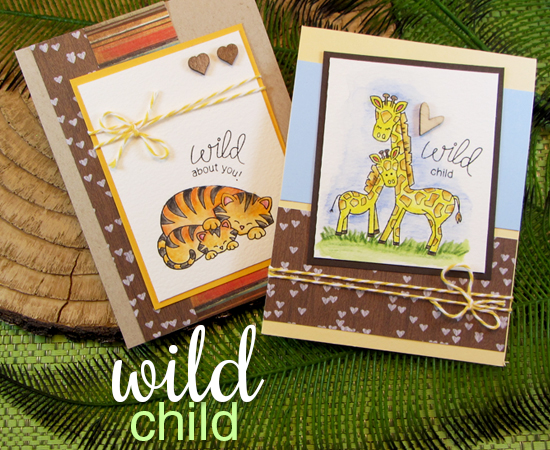 Wild Child Zoo Baby Animal Stamp Set  | Newton's Nook Designs