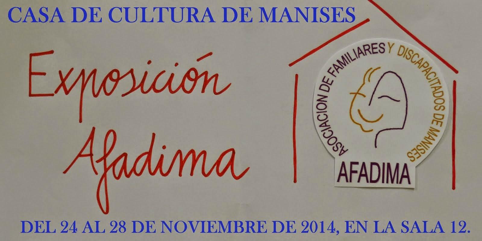AFADIMA EXPONE LOS TRABAJOS EN LA CASA DE CULTURA DEL 24 AL 28 DE NOVIEMBRE.