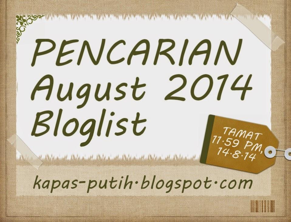 Update Segmen Bloglist Bulan August Kapas Putih