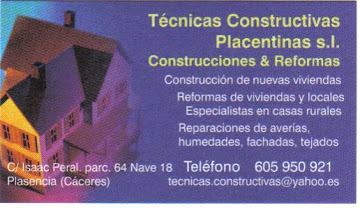 TECNICAS CONSTRUCTIVAS PLACENTINAS S.L.