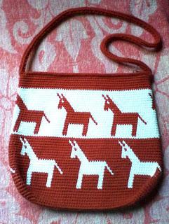 Bolso de jaquard crochet