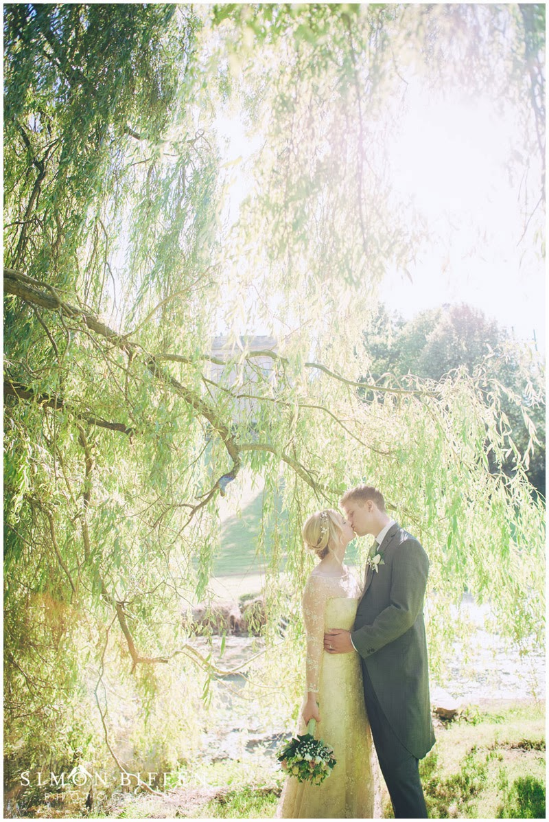 Bride and Groom portraits at Ston Easton