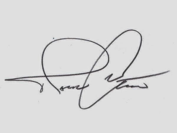 Signature is bigger than writing
