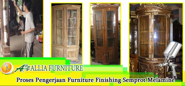 Proses Furniture Finishing Semprot Melamine