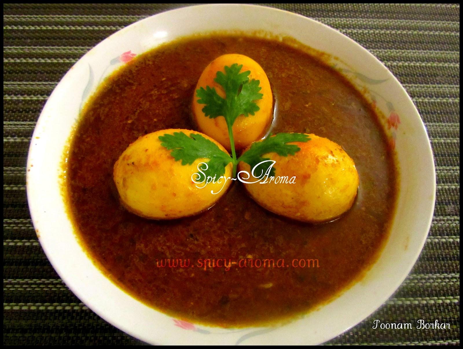 Maharashtrian Egg Curry Anda Rassa