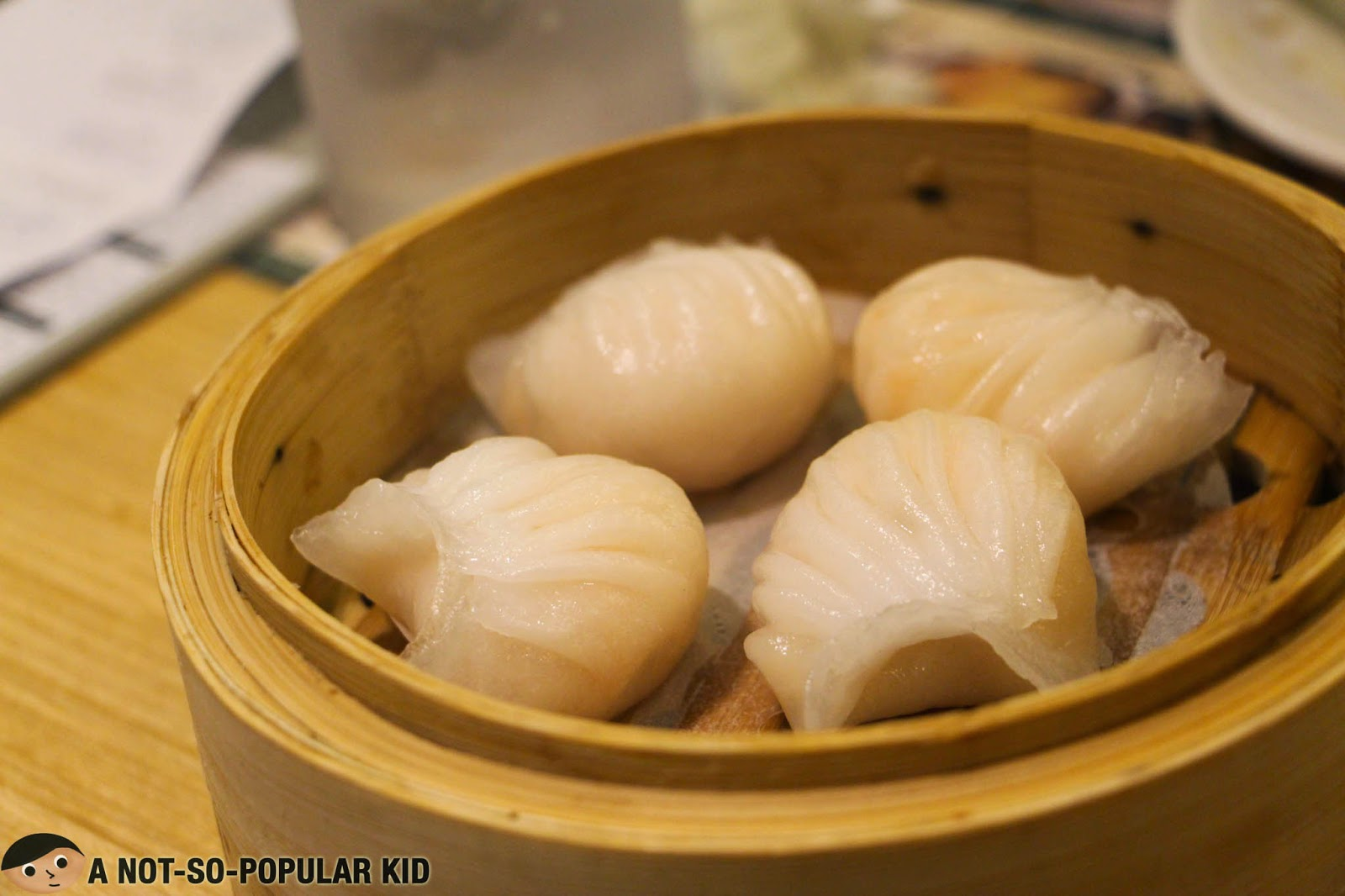 Prawn Dumpling or known as Hakaw of Tim Ho Wan