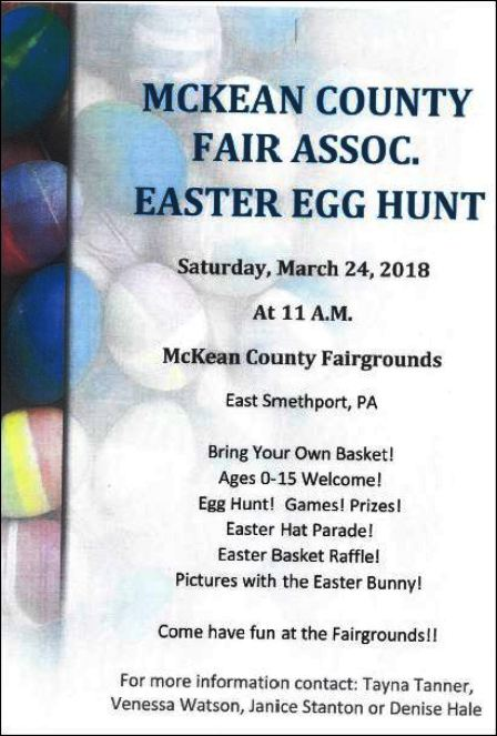 3-24 Easter Egg Hunt, McKean Co. Fairgrounds