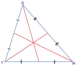Что такое медиана. Медианы в треугольнике. Математика для блондинок.