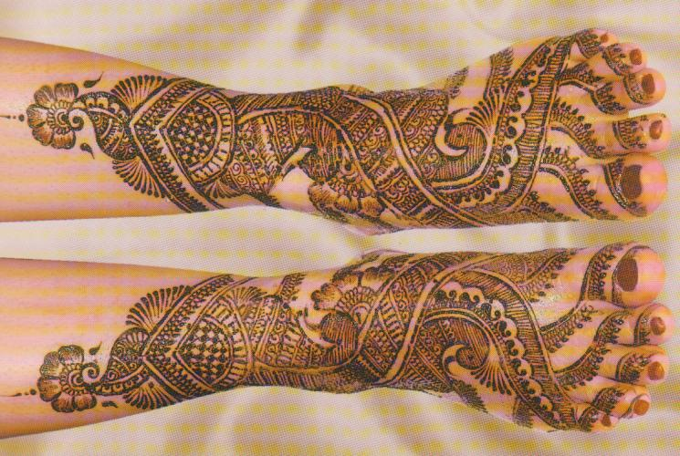 Mehndi Bridal Arabic Design : Arabic bridal mehndi designs desings