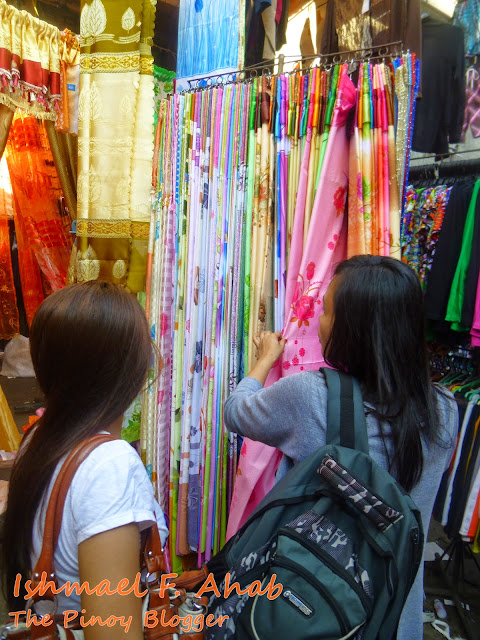 Buying curtain at Ylaya Street, Divisoria