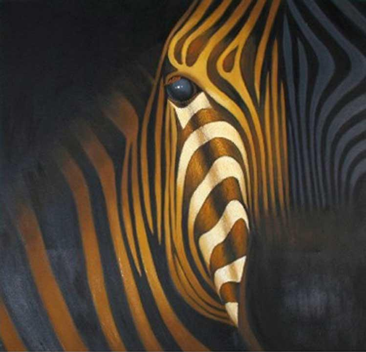 zebra oil painting - photo #3
