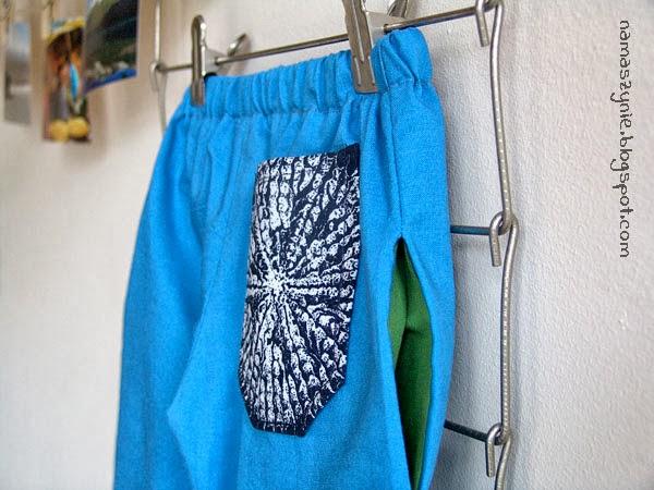 Spodenki, ubrania, dla dzieci, ubranka, dla chłopca, Kieszenie, kieszeń wszywana w szew, na gumce, jak uszyć, wykrój, tutorial, namaszynie