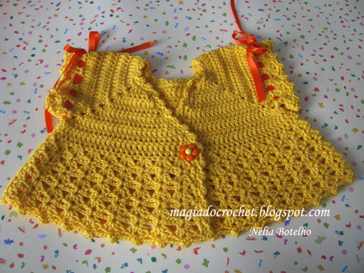 bolero+amarelo 2013 Tığ işi bebek örgüleri