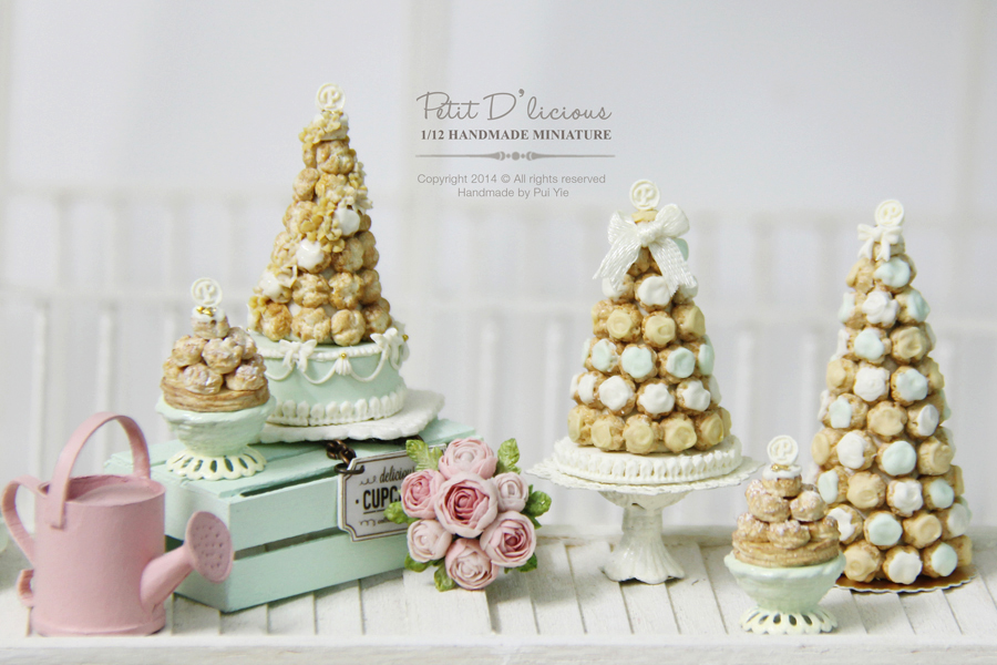 Petit D Licious French Croquembouche Wedding Cake On Cake Stand