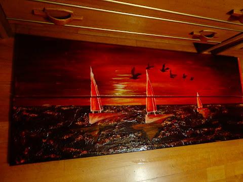 quadro pintado em acrílico