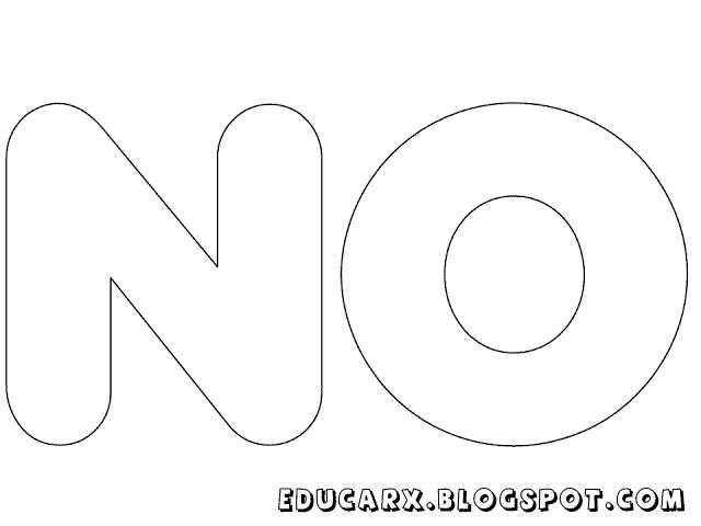 Molde de letras grandes no