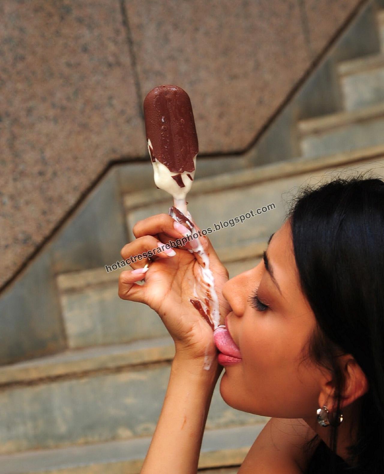 tamil actress hot suck ice cream