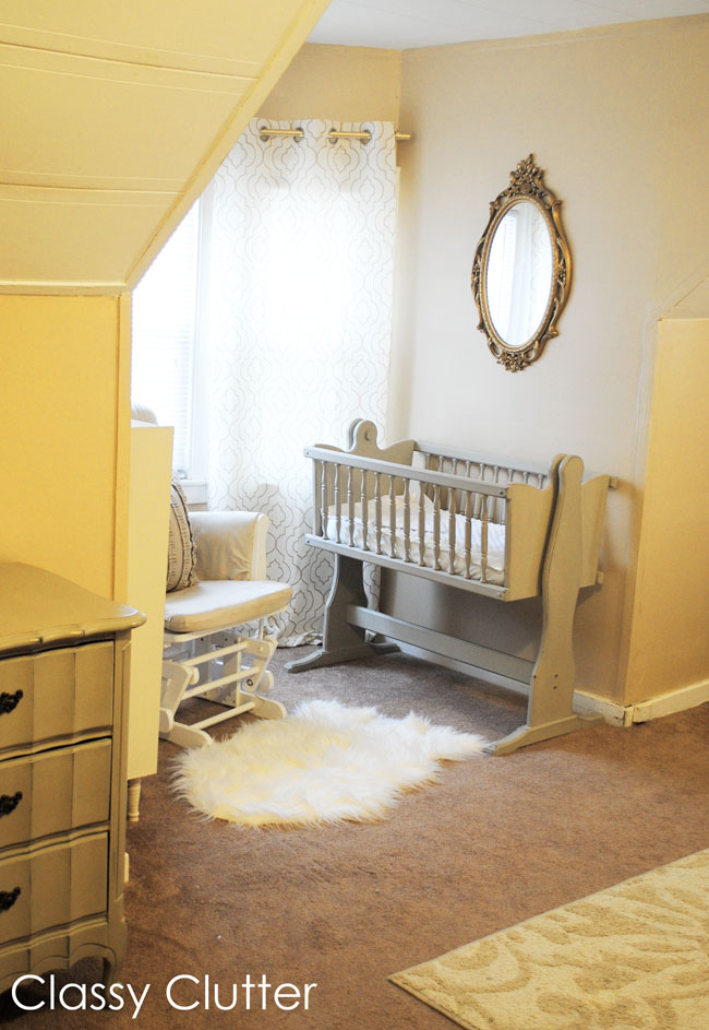 Baby 39 s mini nursery nook in our master bedroom classy clutter Master bedroom plus nursery