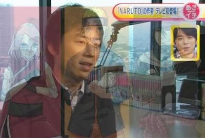 gambar Masashi Kishimoto dan Naruto