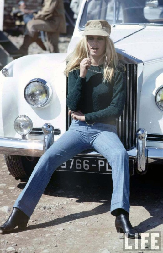 vintage everyday  brigitte bardot on the set of shalako  1967