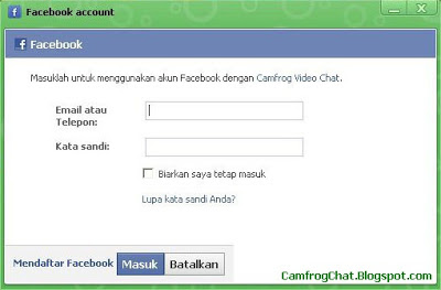Login Camfrog 6.4 Facebook Account
