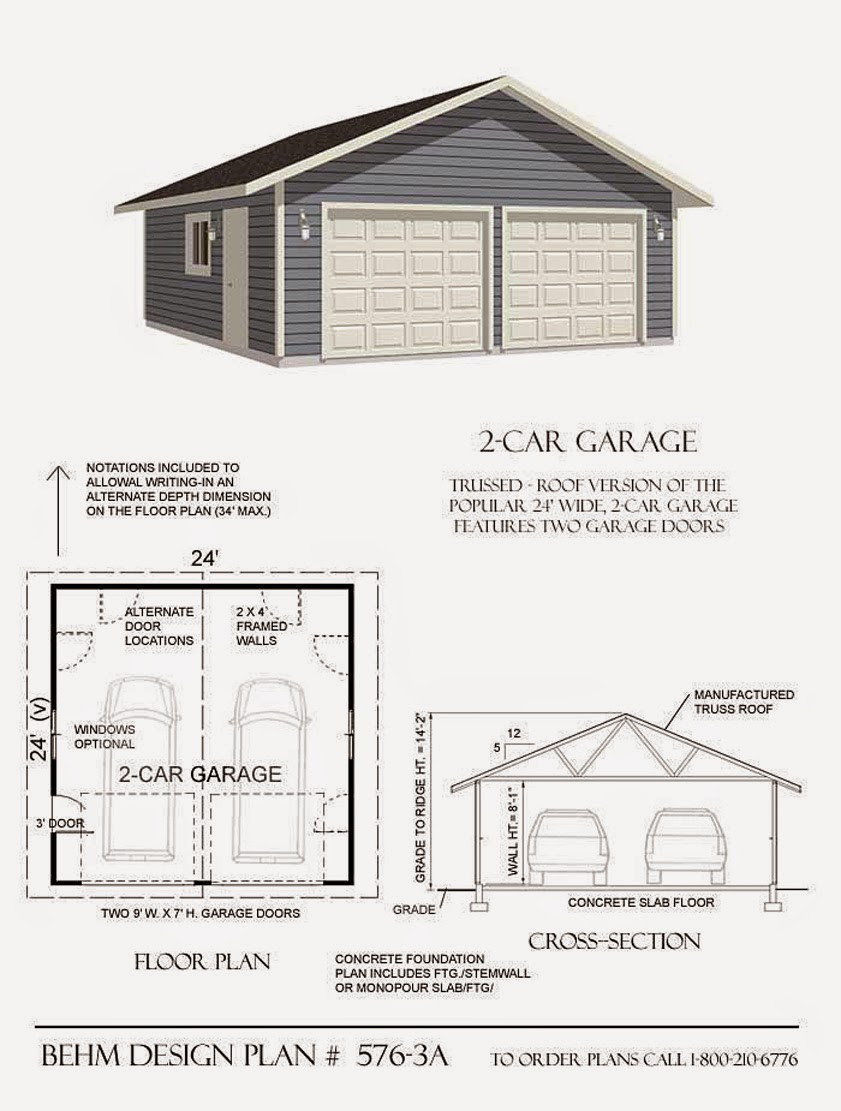 Garage plans blog behm design garage plan examples for Two car garage designs