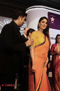 Kareena Kapoor Pictures in Saree at FICCI Frames 2013 Launch Event 0015