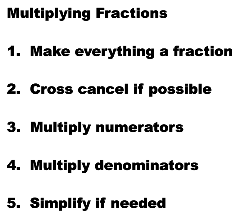 how to cross cancel 3 fractions
