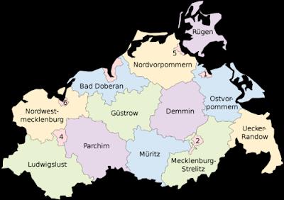 Karte der Provinz von Mecklenburg